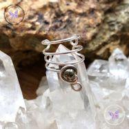 Pyrite Silver Ear Cuff